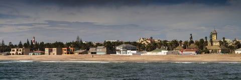 Panorama van de Swakopmund-kustlijn royalty-vrije stock afbeelding