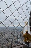 Panorama van de toren van Eiffel Stock Foto's