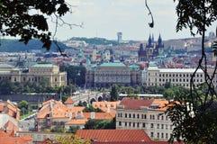 Panorama van de Tsjechische stad Royalty-vrije Stock Afbeelding