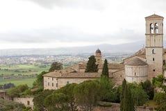 Panorama van de vlakte van Assisi, Italië Royalty-vrije Stock Afbeelding