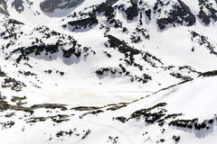 Panorama van de Zeven Rila-Meren in Rila-berg, Bulgarije Royalty-vrije Stock Fotografie