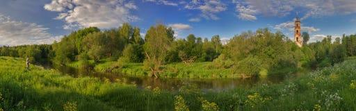 Panorama van de zomer in Rusland royalty-vrije stock foto