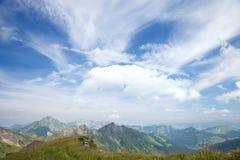 Panorama van de zomerberg, Frankrijk Stock Afbeelding