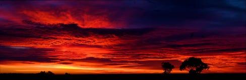 Panorama van de zonsopgang van de Verlichtingsrand royalty-vrije stock afbeelding