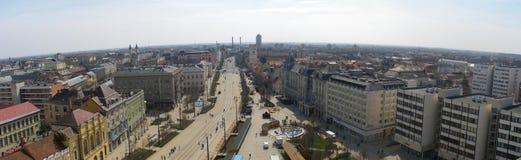 Panorama van Debrecen Stock Foto