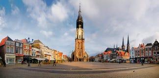 Panorama van Delft royalty-vrije stock afbeeldingen
