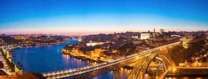 Panorama van Dom Luiz-brug stock foto