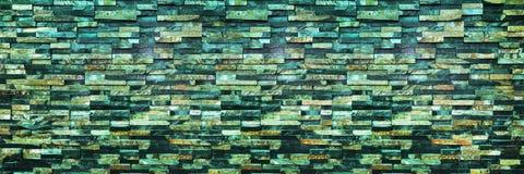panorama van donkere moderne bakstenen muur voor achtergrond en ontwerp Stock Afbeelding