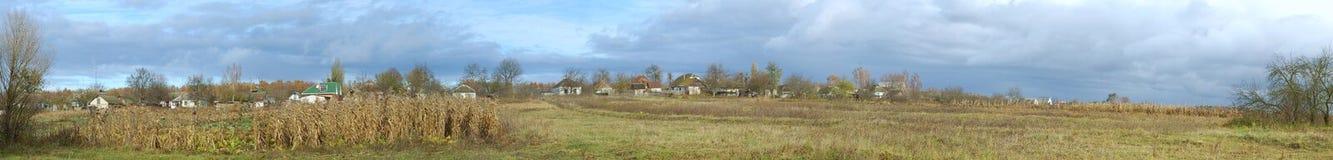 Panorama van dorp stock foto's