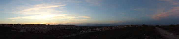 Panorama van dorp Royalty-vrije Stock Foto's
