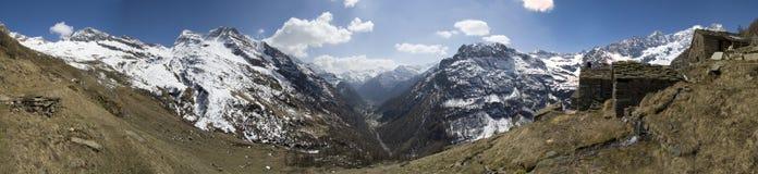 Panorama van dorp Faller stock fotografie