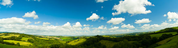 Panorama van Dorset Engeland Royalty-vrije Stock Foto's