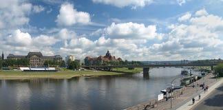 Panorama van Dresden, Duitsland. Royalty-vrije Stock Afbeelding