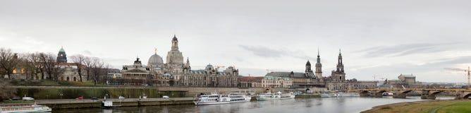 Panorama van Dresden, Duitsland, December 2017 Royalty-vrije Stock Afbeelding
