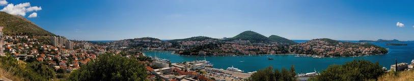 Panorama van Dubrovnik, Kolocep-Baai Stock Afbeeldingen