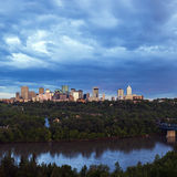 Panorama van Edmonton Royalty-vrije Stock Foto's