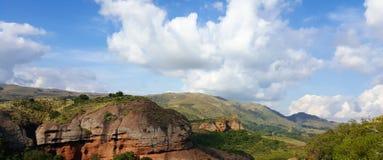 Panorama van een Argentijns landschap Het landschap van de berg Royalty-vrije Stock Foto