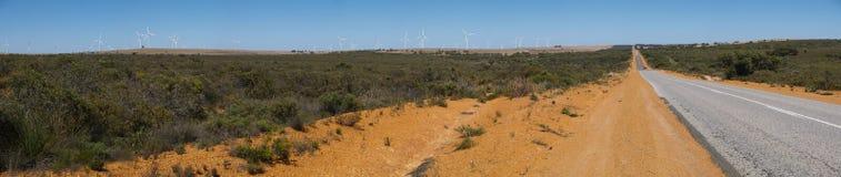 Panorama van een binnenlandweg Royalty-vrije Stock Fotografie