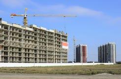 Panorama van een bouwwerf in de voorsteden Stock Fotografie