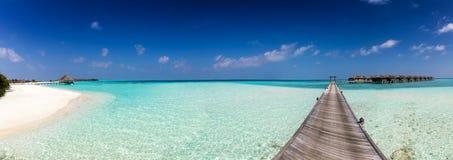 Panorama van een eiland in de Maldiven Royalty-vrije Stock Foto's