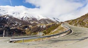 Panorama van een haarspeldkromming in Picos DE Europa Royalty-vrije Stock Fotografie