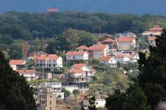 Panorama van een kleine Europese stad in Montenegro Royalty-vrije Stock Afbeelding
