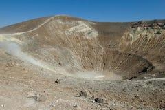 Panorama van een krater Vulcan. Royalty-vrije Stock Afbeeldingen