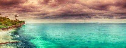 Het panorama van de zonsondergang Royalty-vrije Stock Foto's
