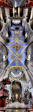 Panorama van een oude kathedraal. Royalty-vrije Stock Foto's