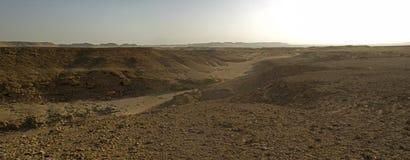 Panorama van een steenachtig woestijnlandschap Royalty-vrije Stock Afbeelding
