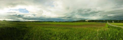 Panorama van een Stormachtig Landschap van Vermont royalty-vrije stock foto's