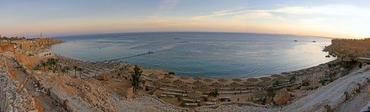 Panorama van een strand stock afbeelding