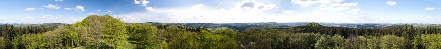 Panorama van Eifel royalty-vrije stock fotografie