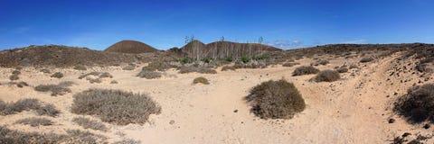 Panorama van Eiland Lobos Royalty-vrije Stock Foto