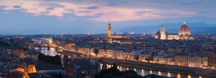 Panorama van Florence stock foto