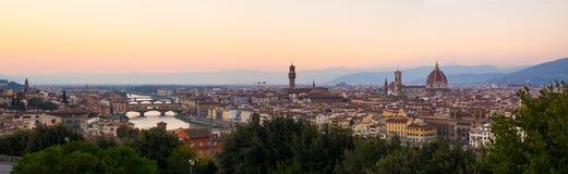 Panorama van Florence Royalty-vrije Stock Foto