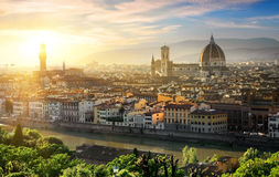 Panorama van Florence stock foto's
