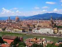 Panorama van Florence in de zomer stock foto's