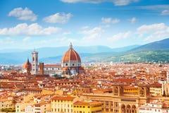 Panorama van Florence en Heilige Mary Stock Afbeelding