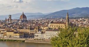 Panorama van Florence Mening van hierboven Italië royalty-vrije stock foto's