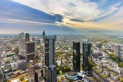 Panorama van Frankfurt-am-Main Stock Afbeeldingen