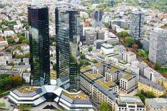 Panorama van Frankfurt-am-Main, Duitsland. royalty-vrije stock fotografie
