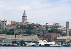 Panorama van Galata Royalty-vrije Stock Foto's