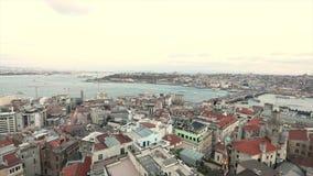 Panorama van Galata-Toren, Turkije Istanboel Panorama van de gezichten van Istanboel 10 april, 2019 stock footage