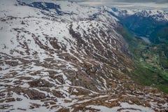 Panorama van Geirangerfjord van Dalsnibba Stock Foto