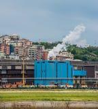 Panorama van Genoa Port Stock Fotografie