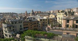 Panorama van Genua, Italië Stock Afbeeldingen