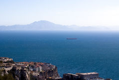 Panorama van Gibraltar Stock Afbeelding