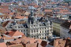 Panorama van Graz stock afbeelding