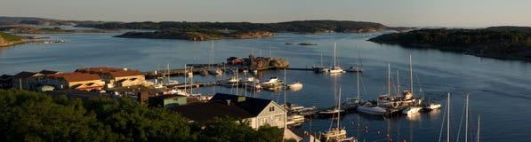 Panorama van Grebbestad Stock Foto's